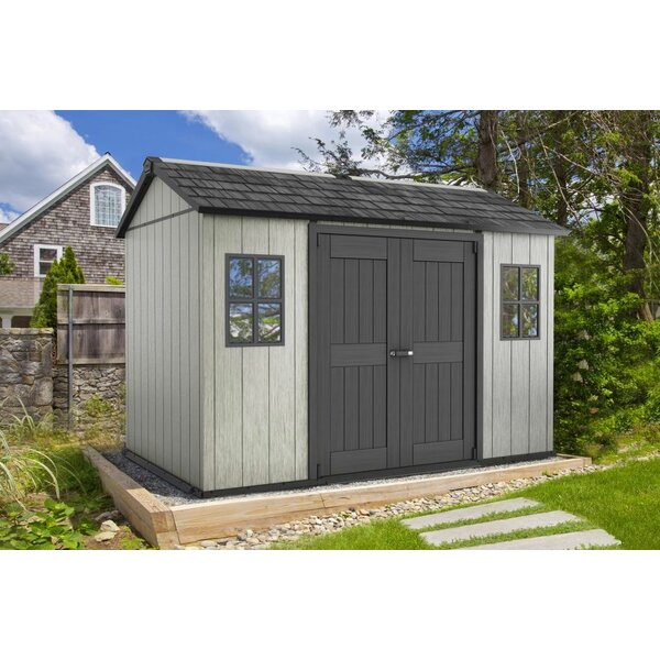 Oakland 11 ft. W x 7 ft. 5 in. D Plastic Storage Shed by Keter