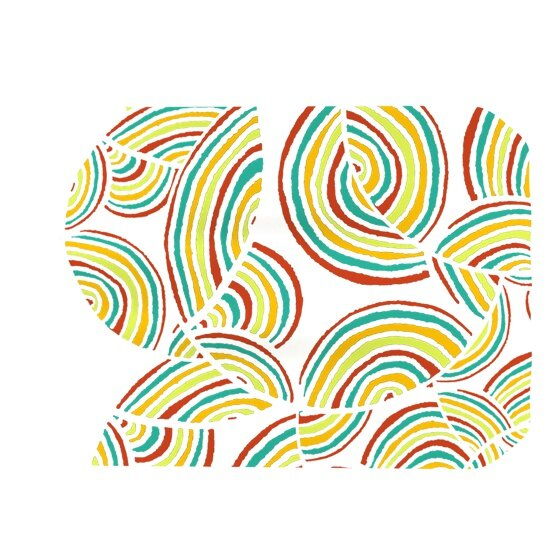 Rainbow Sky Placemat by KESS InHouse