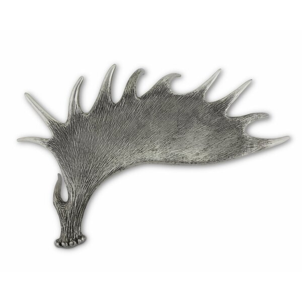 Lodge Pewter Moose Antler Serving Tray by Vagabond House