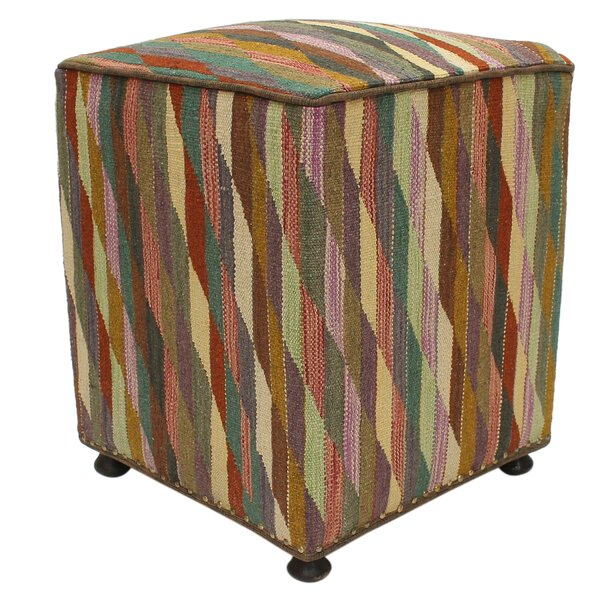 Macclenny Tufted Cube Ottoman By World Menagerie