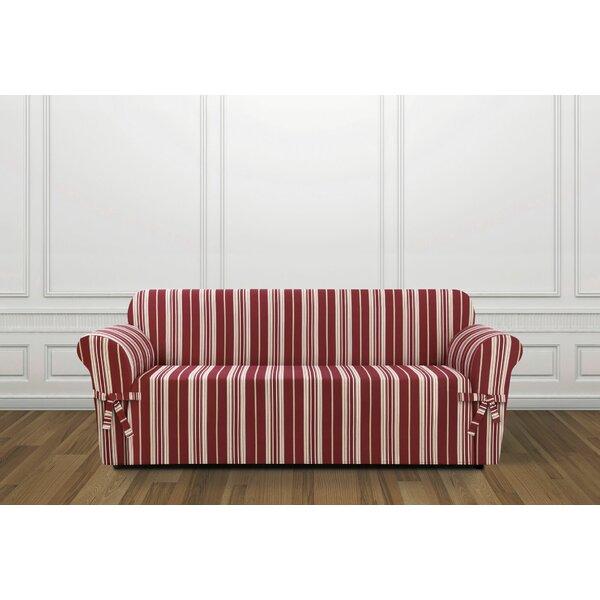 South Hampton Stripe Box Cushion Sofa Slipcover by Sure Fit