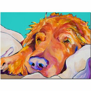 Snoozer King by Pat Saunders-White Painting Print on Canvas by Trademark Fine Art
