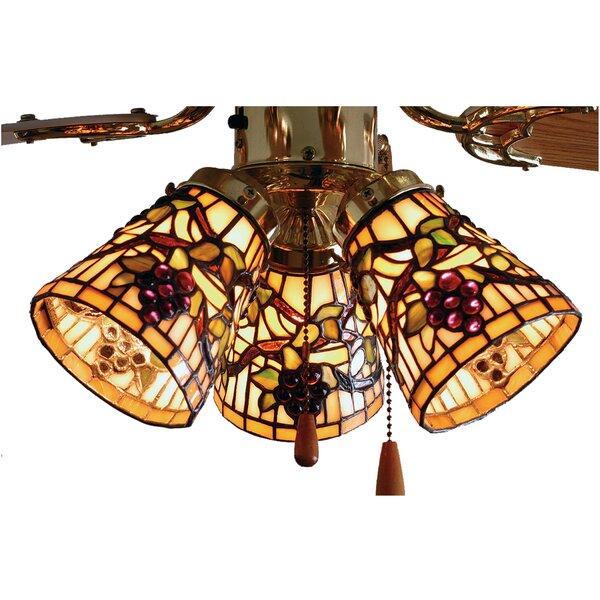 Diane 5 H Glass Bowl Ceiling Fan Fitter Shade ( Screw On ) in Orange/Brown