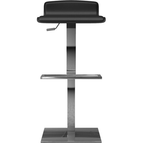 Messina Adjustable Height Bar Stool by Modloft Black