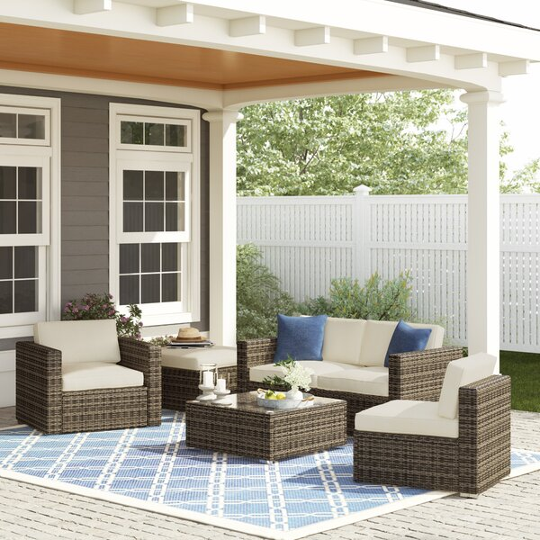 Carmelo 6 Piece Sofa Seating Group with Cushions by Sol 72 Outdoor
