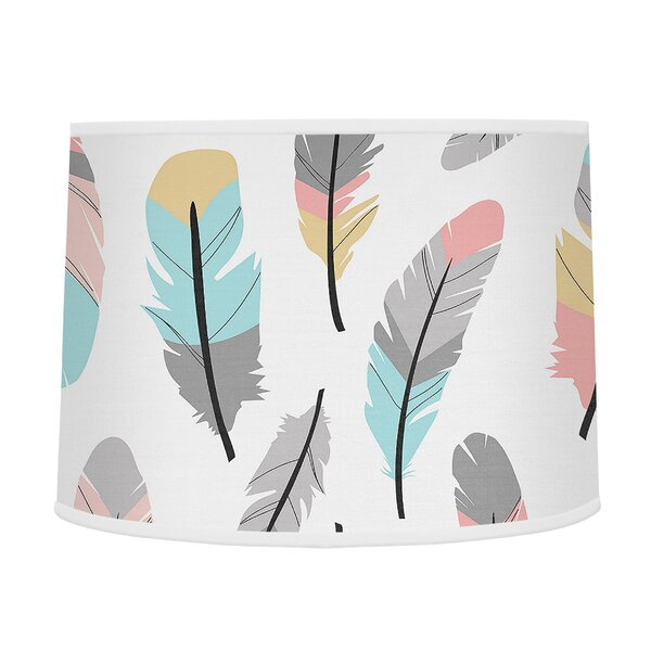Feather 10 Drum Lamp Shade by Sweet Jojo Designs