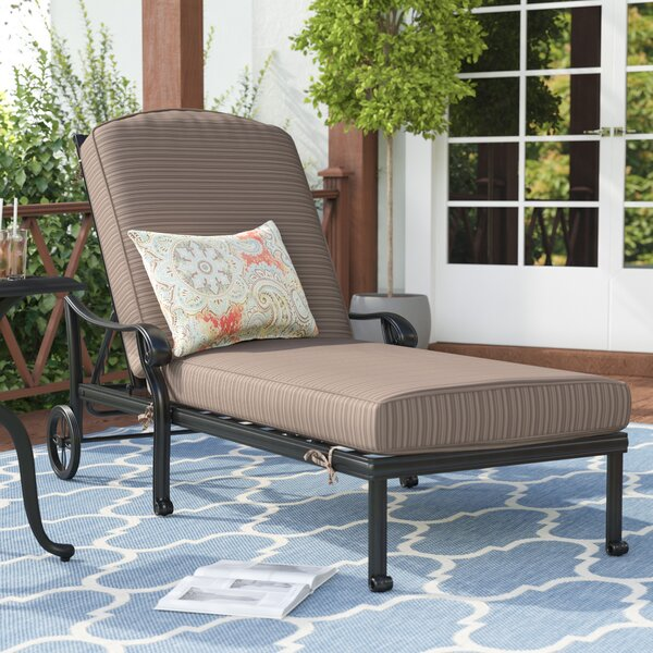 Germano Reclining Chaise Lounge with Cushion by Darby Home Co Darby Home Co