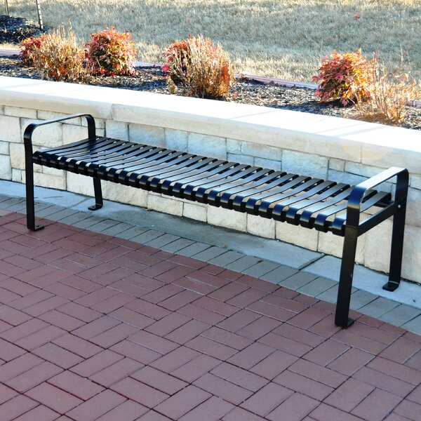 Aspen Steel Park Bench by Frog Furnishings