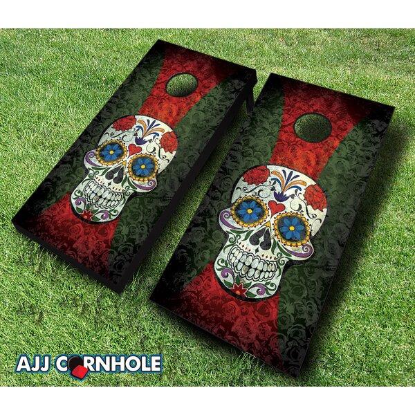 10 Piece Sugar Skull Cornhole Set by AJJ Cornhole