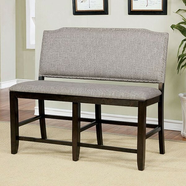 Len Counter Height Upholstered Bench by Canora Grey