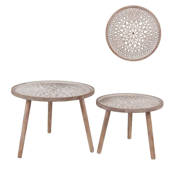 Coulter 2 Piece Nesting Tables By Bungalow Rose
