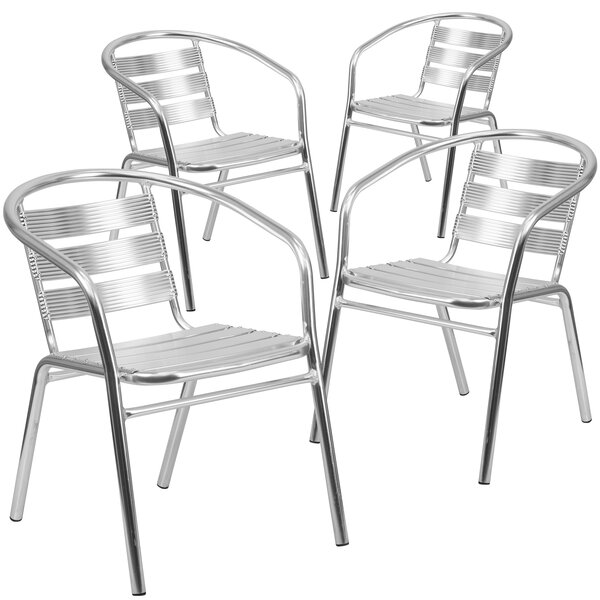 Eynesil Patio Dining Chair (Set of 4) by Orren Ellis