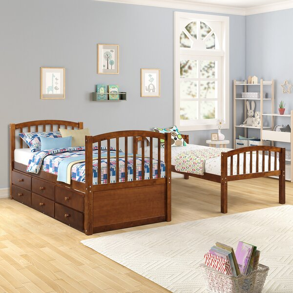 Jardine Twin over Twin Bunk Bed with Trundle and Drawers by Harriet Bee