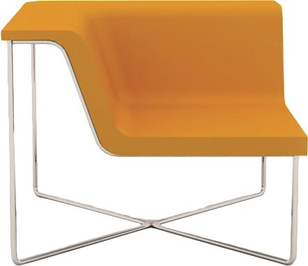 Pop Corner Cat A Leather Side Chair by B&T Design