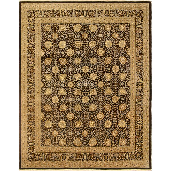 One-of-a-Kind Broncho Turkish Hand Knotted Wool Chocolate/Beige Area Rug