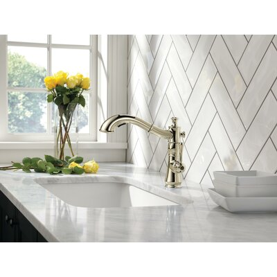Kitchen Faucet Single Handle Polished Nickel 1024 Product Photo