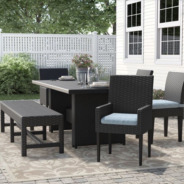 Tegan 6 Piece Dining Set with Cushions by Sol 72 Outdoor