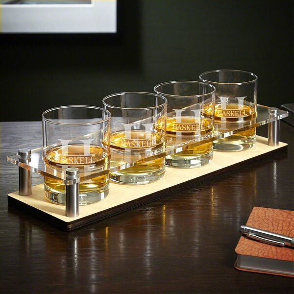 Kaity Engraved 5 Piece Cocktail Glass Set by Darby Home Co
