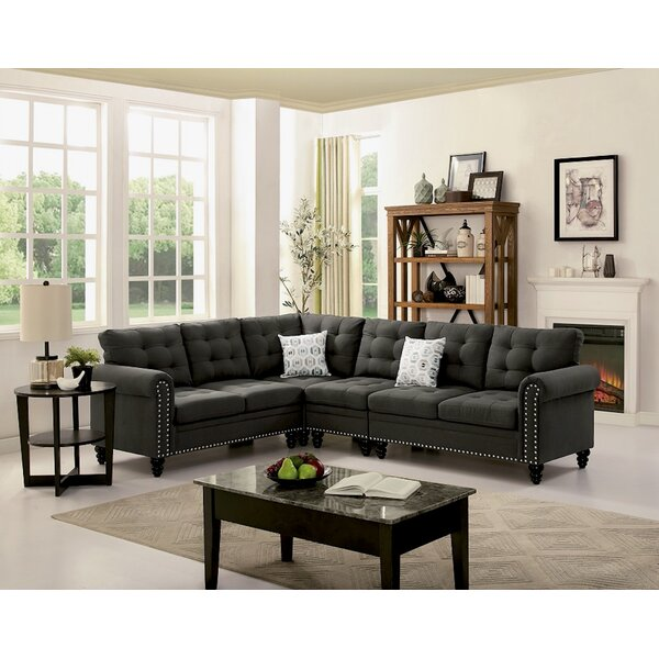 Schell Reversible Sectional by Alcott Hill