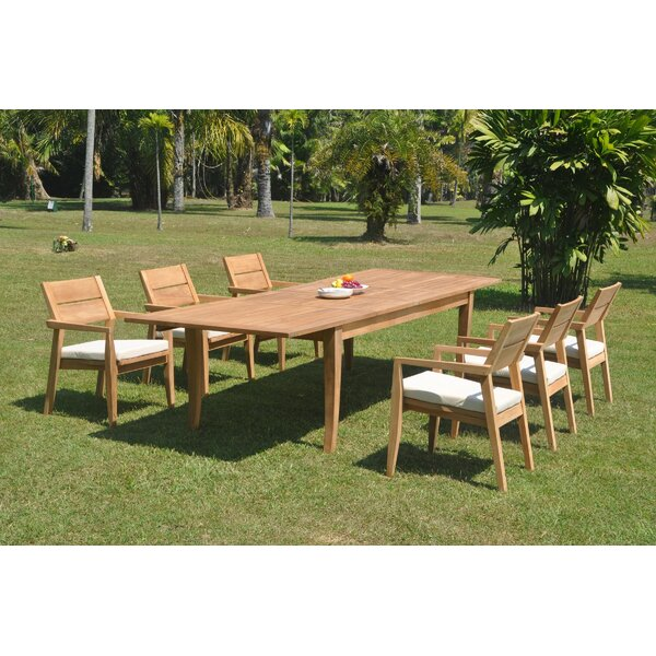Hazelwood 7 Piece Teak Dining Set by Rosecliff Heights