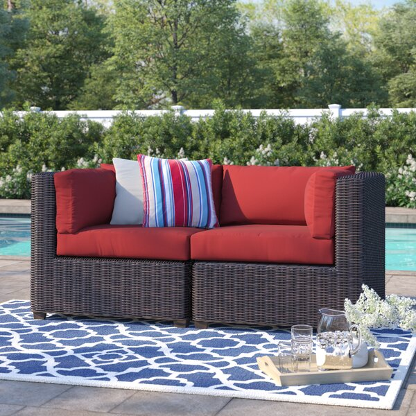 Fairfield Patio Loveseat with Cushions by Sol 72 Outdoor