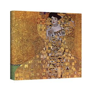 ''Portrait of Bloch Bauer'' by Gustav Klimt Painting Print on Canvas by ArtWall