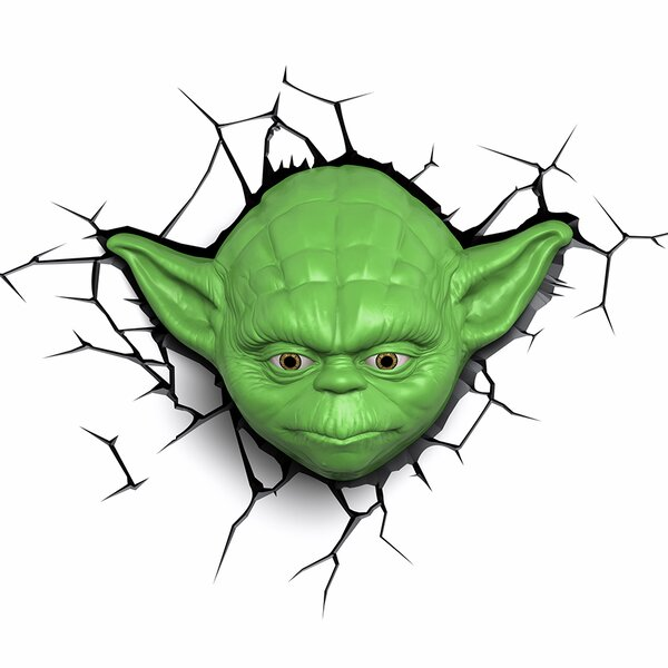 3D EP.7 Star Wars Yoda Face Deco 5-Light Night Light by 3D Light FX