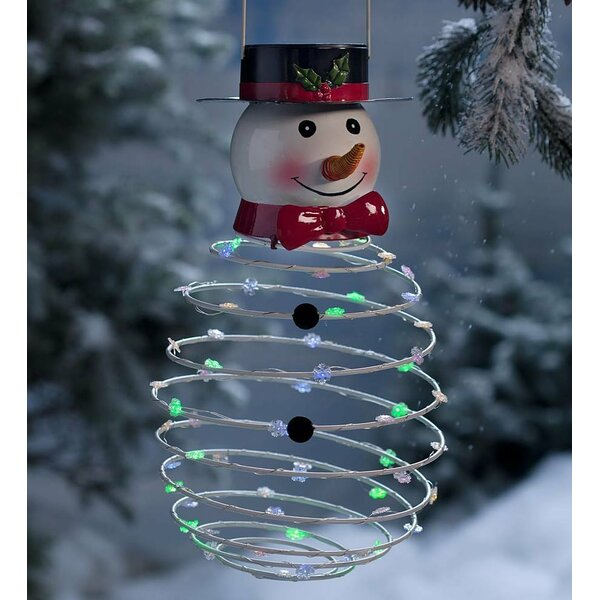 Hanging Snowman Lighted Display by Plow & Hearth