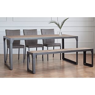 Farah Dining Set With 3 Chairs And 1 Bench