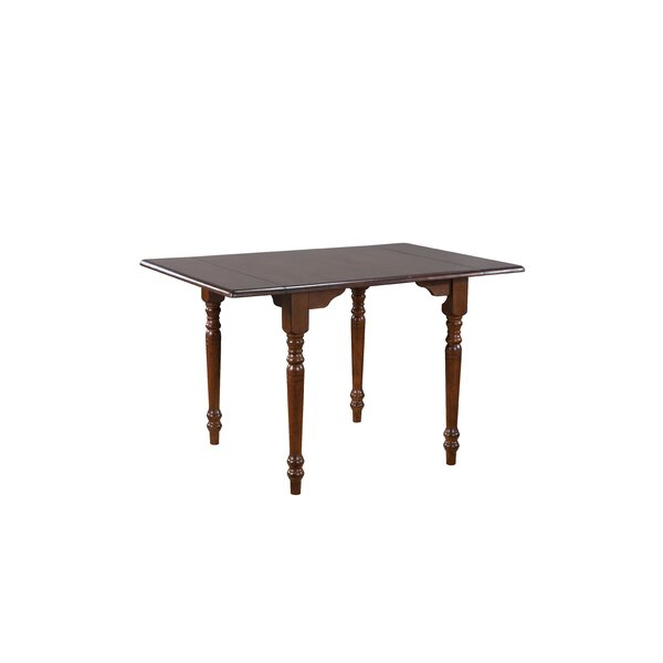 Stromberg Drop Leaf Solid Wood Dining Table by Loon Peak