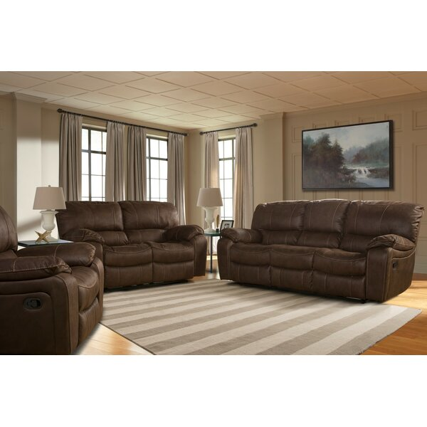 Fresh Collection Burgundy 2 Piece Leather Living Room Set