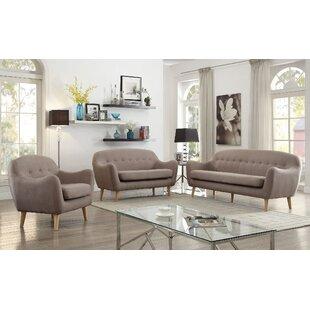 Malaya 3 Piece Living Room Set by Corrigan Studio®