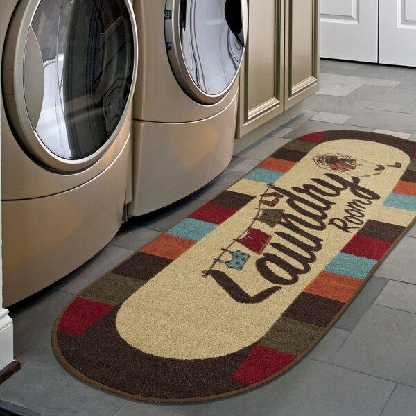Barnett Non-Slip Low-Pile Laundry Utility Mat