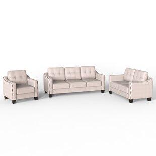 Georgia-Leigh 3 Piece Living Room Set by Ebern Designs
