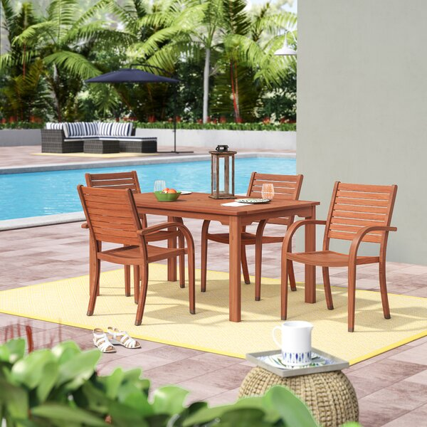 Frye 5 Piece Dining Set by Beachcrest Home