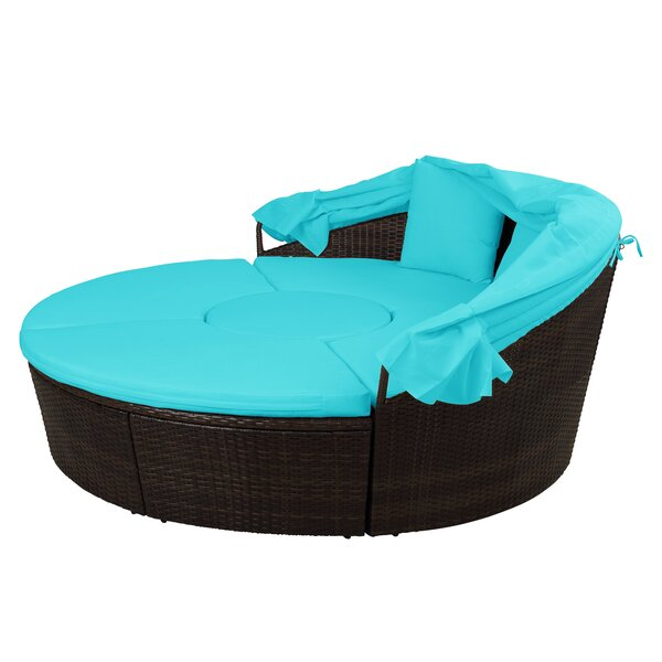 Benghauser Outdoor Patio Daybed with Cushion by Latitude Run Latitude Run