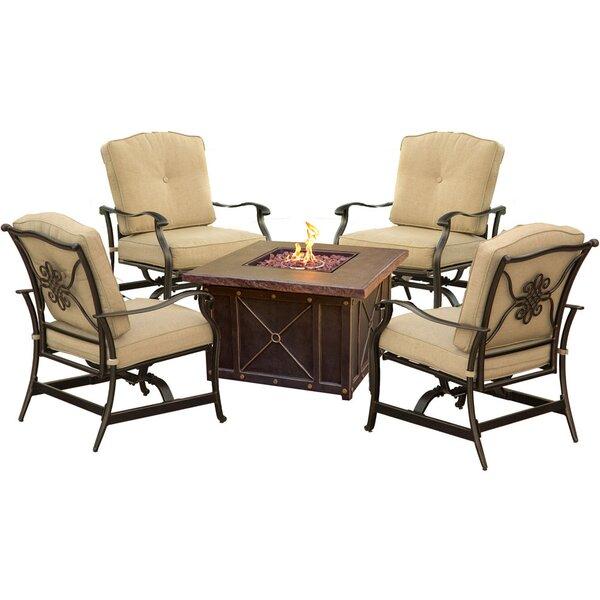 Eva 5 Piece Conversation Set with Cushions by Fleur De Lis Living