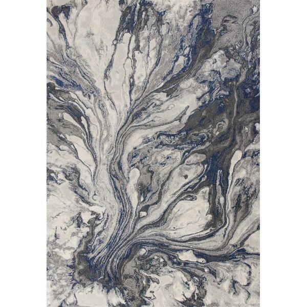 Kaia Gray Watercolors Area Rug by Wade Logan
