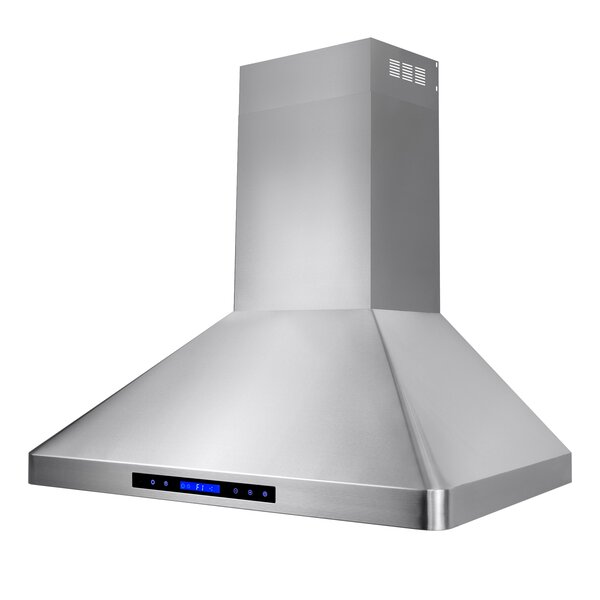 36 471 CFM Ducted Wall Mount Range Hood with Remote by AKDY