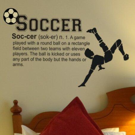 Soccer Definition Wall Decal by Alphabet Garden Designs
