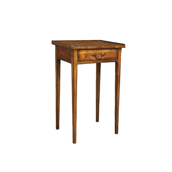 Sarah's Solid Wood End Table With Storage By Manor Born Furnishings