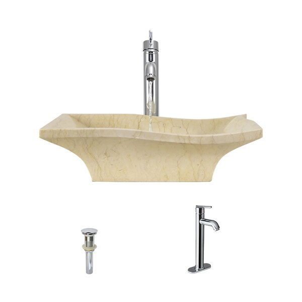 Egyptian Stone Specialty Vessel Bathroom Sink with Faucet by MR Direct