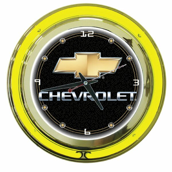 14 Chevy Double Ring Wall Clock by Trademark Global