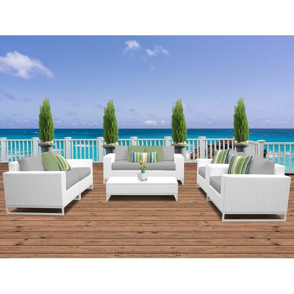 Miami 7 Piece Sofa Seating Group with Cushions by TK Classics