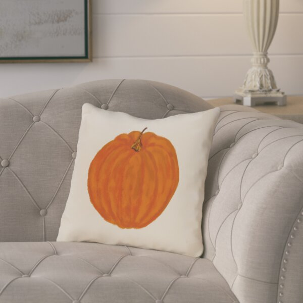 Ivy Lil Pumpkin Holiday Outdoor Throw Pillow by August Grove
