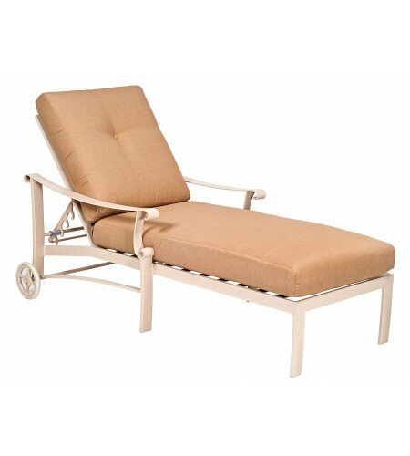 Bungalow Reclining Chaise Lounge with Cushion by Woodard