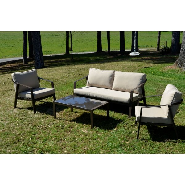 Standard 4 Piece Outdoor Sofa Seating Group with Cushions by Ivy Bronx