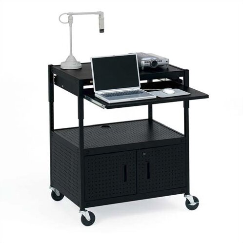 Height Adjustable Multimedia Presentation AV Cart by Bretford Manufacturing Inc