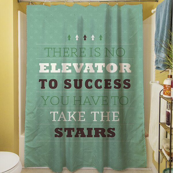Take the Stairs Shower Curtain by Manual Woodworkers & Weavers