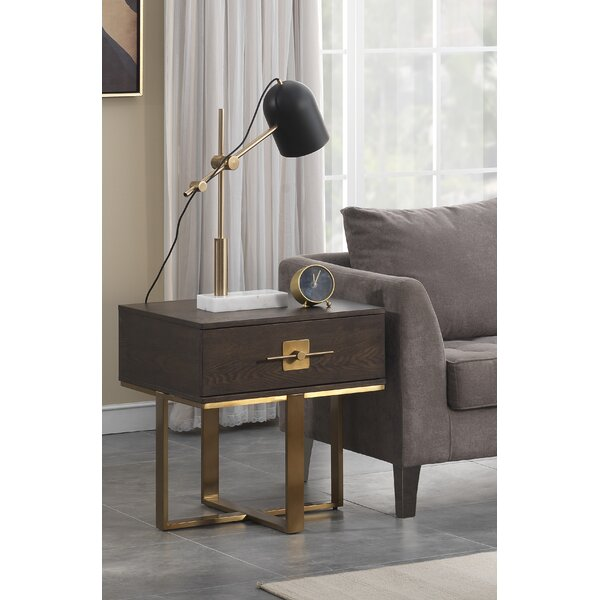 Sandisfield End Table With Storage by Everly Quinn
